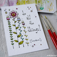do all the things (tomorrow) - original aceo