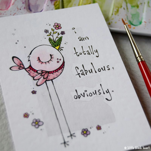 totally fabulous - original aceo