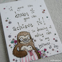 dream it achieve it - original aceo