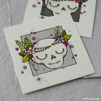 floral garland skull - original twinchie
