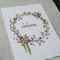 floral whatever - original aceo