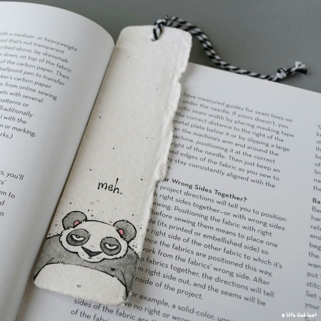 bookmark with original illustrion - meh panda