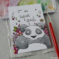 spesh panda - original aceo