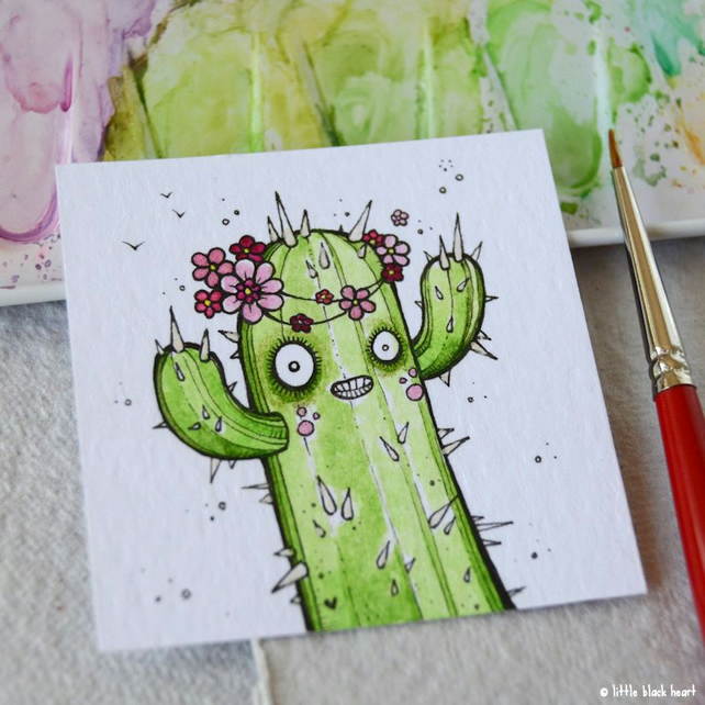 cactus with a floral crown - original twinchie