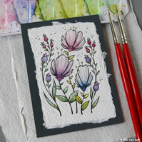 paper flowers (1) - original aceo