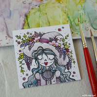 garden witch - wisteria and blossom - original twinchie