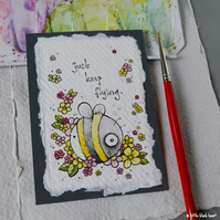 keep flying - original aceo