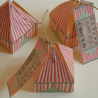 SPECIAL OFFER 10 little circus tent gift boxes