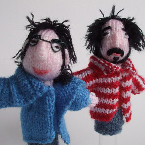 Flight of the Conchords style finger puppets