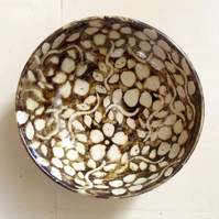 Bowl in stoneware pottery