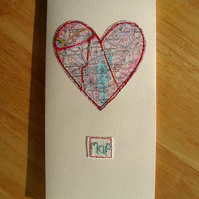 Map to my heart Valentines card