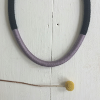 SALE. Chunky thread and rope necklace