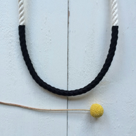 SALE. Single twisted rope necklace