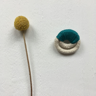 SALE. Rope and thread brooch