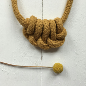 Mustard knuckle necklace