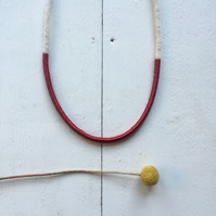 Single natural rope necklace