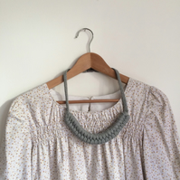 Light grey double figure eight necklace
