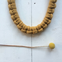 Mustard larks head necklace