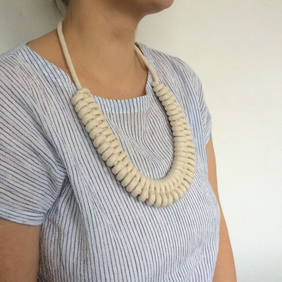 Large natural double figure eight necklace