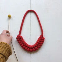 Red double figure eight necklace