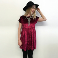 Velvet dress slouchy grunge dress loose babydoll crushed velvet 90s style dress