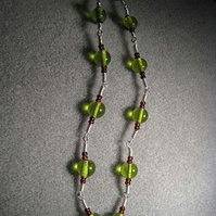 Green & Silver Necklace