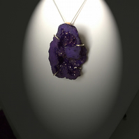 The Purple Crystal Geode Pendant Necklace
