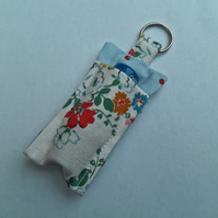 Pouch for your lip balm keyring including lip balm