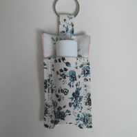 Fabric key ring with a lip balm