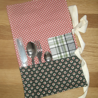 Cutlery wrap roll with napkin serviette eco-friendly