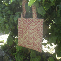 Tote bag eco shopper made from reclaimed fabric