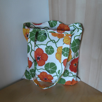 Tote bag in bright colours with long handles market bag
