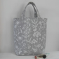 Short handled tote bag in steel grey Laura Ashley fabric