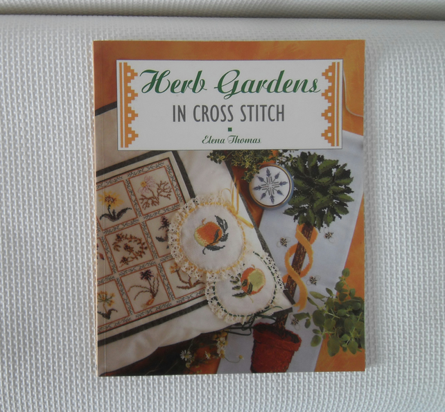 SOLD Herb Gardens in Cross Stitch book by Elena Thomas