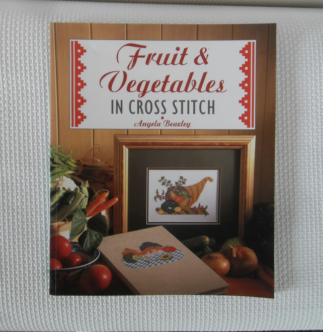 Fruit and vegetables in Cross Stitch book by Angela Beazley