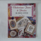 Victorian fans and posies in Cross Stitch book by Jane Alford