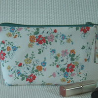 Make up bag in Kidston floral fabric.