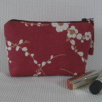 Make up bag in pink Laura Ashley fabrics