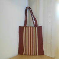 Strong striped tote bag