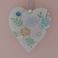 Heart decoration lavender scented embroidered flowers