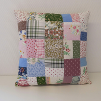 Colourful patchwork cushion zero waste project