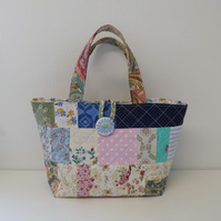 Patchwork tote bag project bag hand bag