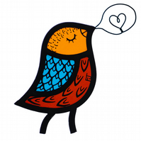 Stained Glass Singing Bird (MADE TO ORDER)