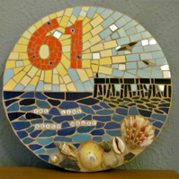 Mosaic house number, custom made, variety of sizes, colours and themes available