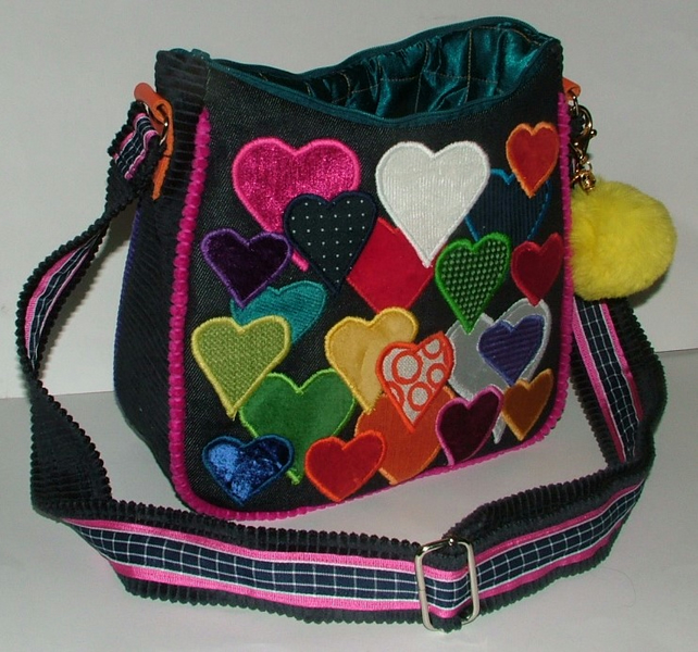 Heart full of love  - Multi coloured heart handbag