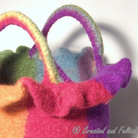 Felt bag pattern pdf Rainbow Bucket Bag