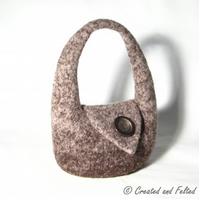 Brown Felt Handbag