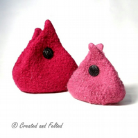 Teardrop Felt Purse 2 sizes PDF Pattern