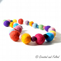 Felt Beads jewelry Knitting Pattern