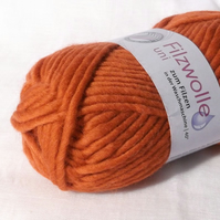 Orange Felting Wool Yarn Uni 54